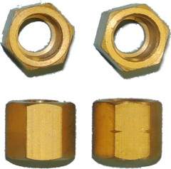 18TPI brass threaded connection nut american type