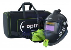 optrel vegaview PAPR ADF welding mask side view