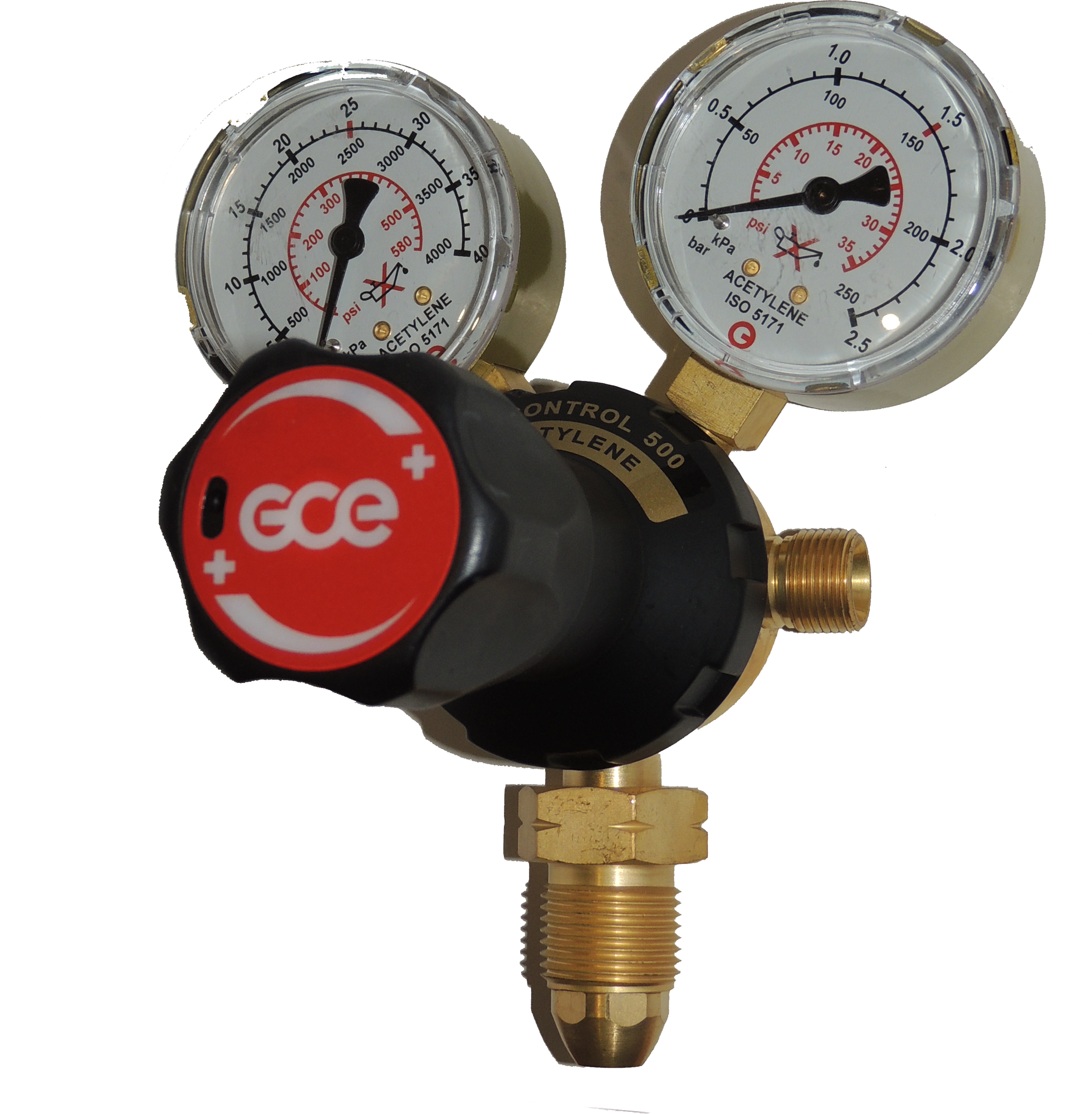GCE Acetylene Regulator Single Stage 2 Gauge BOC