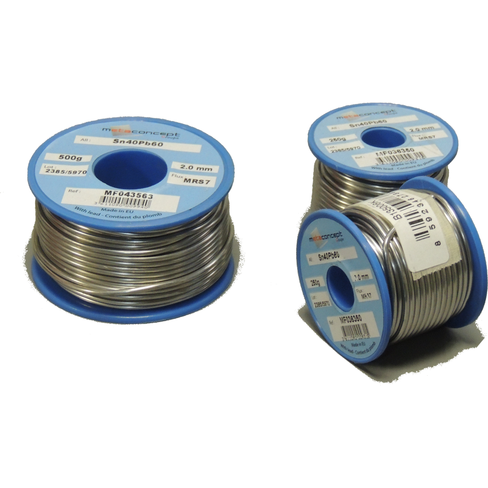 Soft Solder Flux Cored 2,00 mm Dia - 250g Reel
